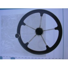 Steering Wheel Black Grip and Knob