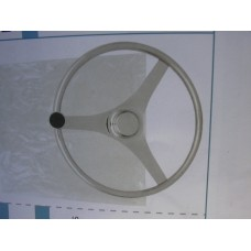 Steering Wheel Stainless Steel 15 inch with Knob