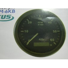 6000 RPM Tachometer with Hour Meter